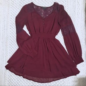 Double Zero Burgundy Dress